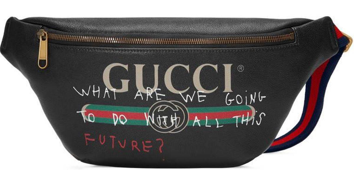 e6b511807c0881 Gucci Coco Capitán Logo Belt Bag in Black - Lyst