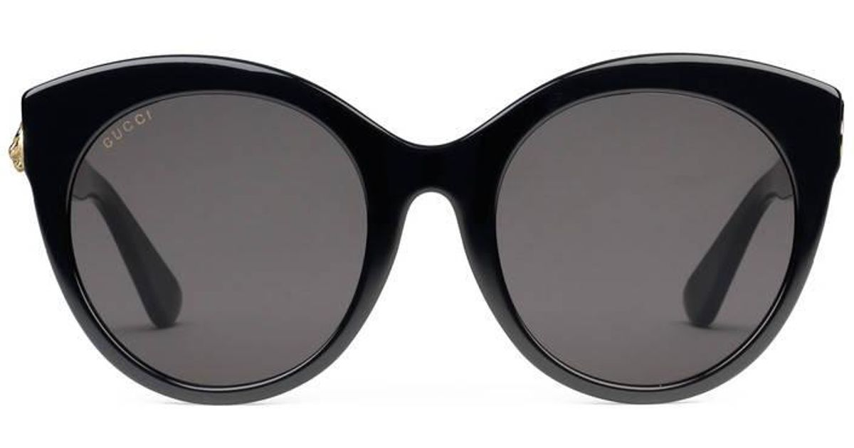 939552bb9d Gucci Specialized Fit Round-frame Acetate Sunglasses in Black for Men - Lyst