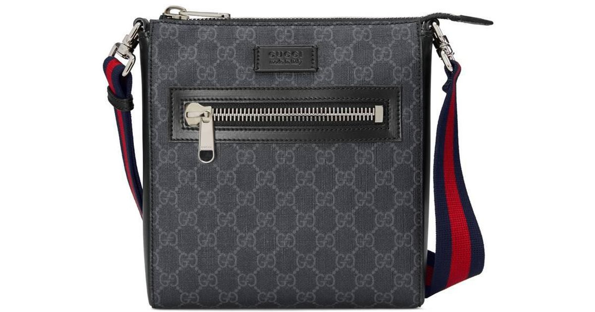 Gucci GG Supreme Small Messenger Bag in Black for Men - Save 15% - Lyst