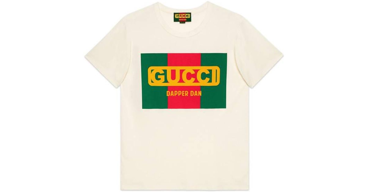 1dce58e919e Gucci Oversize -dapper Dan T-shirt in White for Men - Lyst