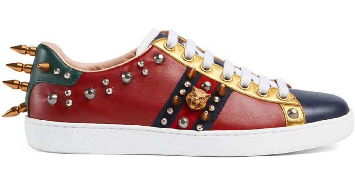 Gucci Ace Studded Leather Low-top