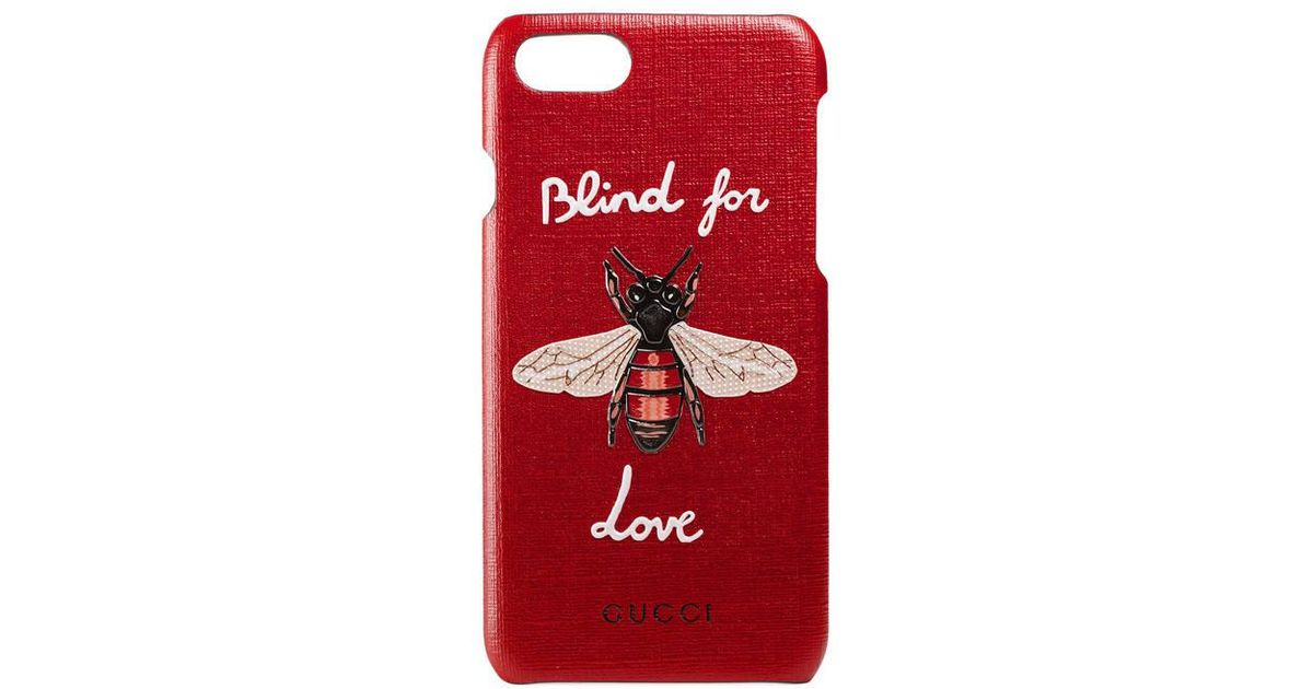 hot sale online 711eb 1d4f9 Gucci Red Iphone 7 Case With Bee