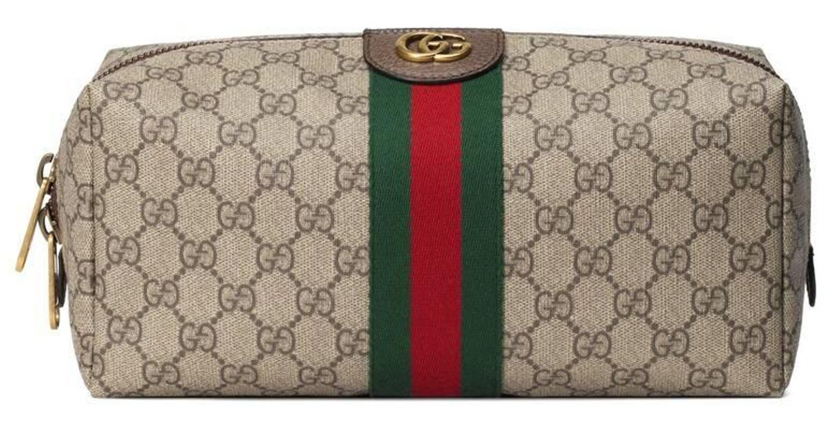 Gucci Canvas Ophidia Gg Toiletry Case Lyst