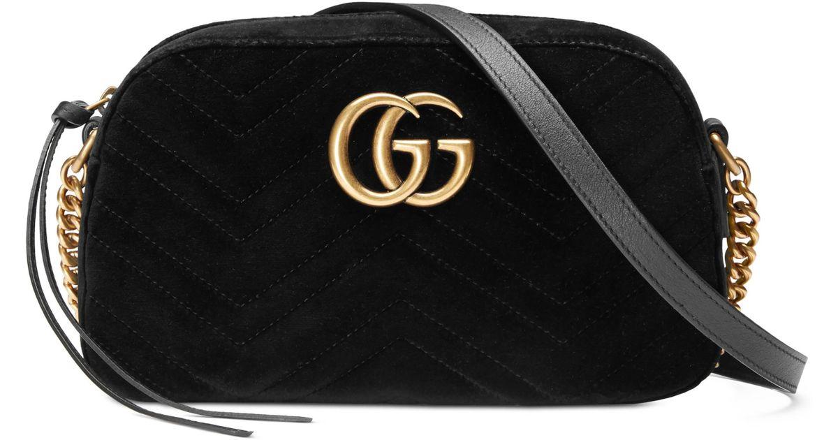3f7fa29b7c2f Lyst - Sac porté épaule GG Marmont Gucci en coloris Noir