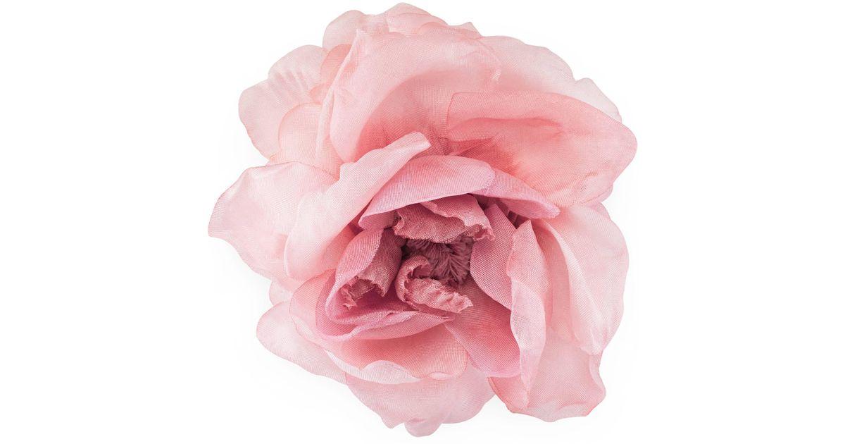 Lyst gucci flower pin in silk in pink save 5 mightylinksfo