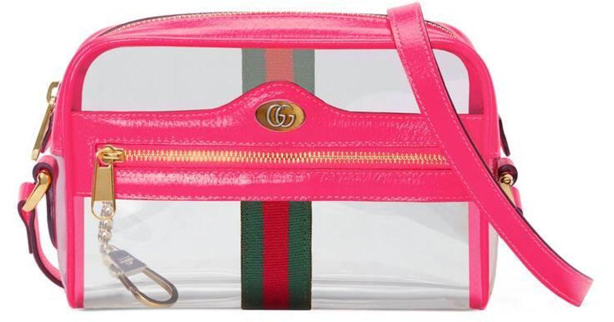 d5615af63 Gucci Mini Ophidia Ghost Vinyl Shoulder Bag in Pink - Save 55% - Lyst