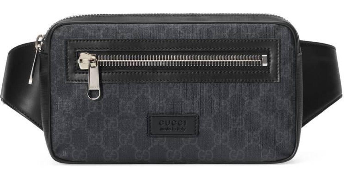 778358aa27bf Lyst - Sac ceinture en toile suprême GG souple Gucci pour homme en coloris  Noir