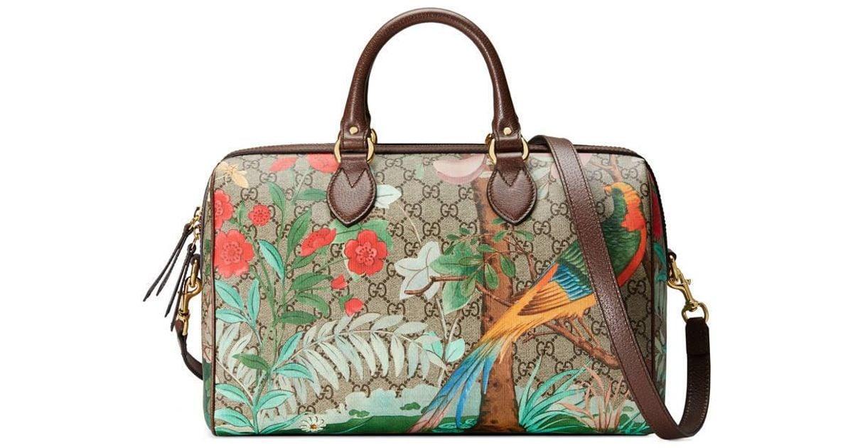 4475944a0 Lyst - Gucci Tian Gg Supreme Boston Bag in Natural