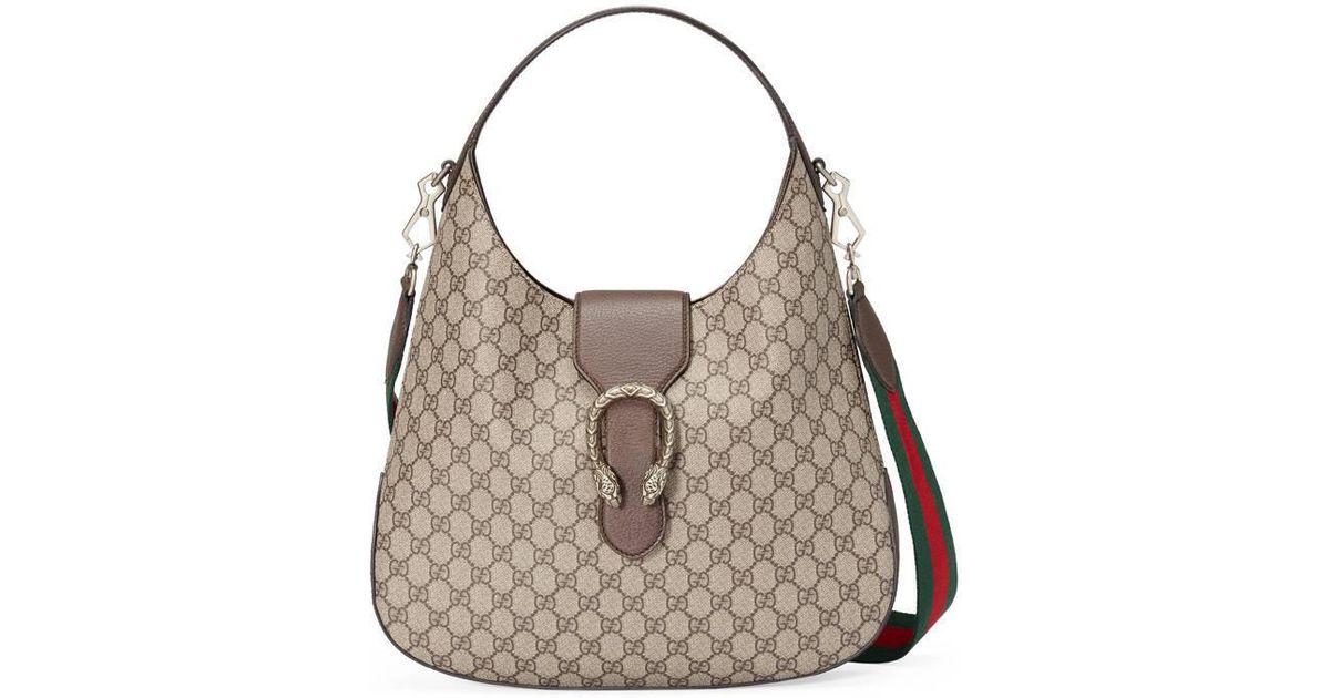 82bd0fbb7eb Lyst - Gucci Dionysus Medium Gg Supreme Hobo