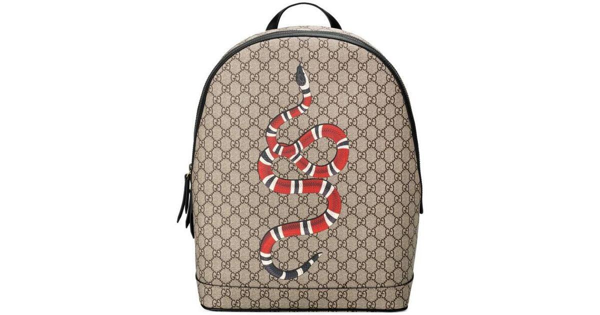 Lyst - Sac à dos Suprême GG à imprimé serpent Gucci pour homme 71af580a26d