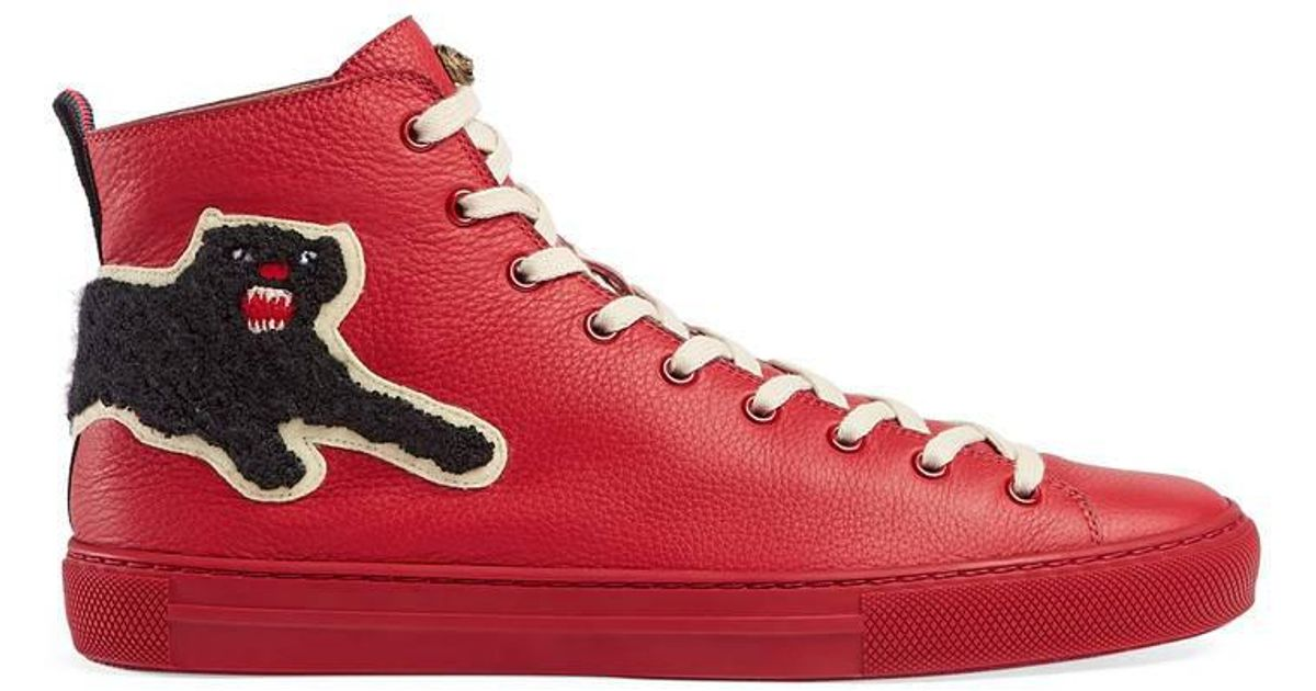 Gucci Leather High-top With Panther in