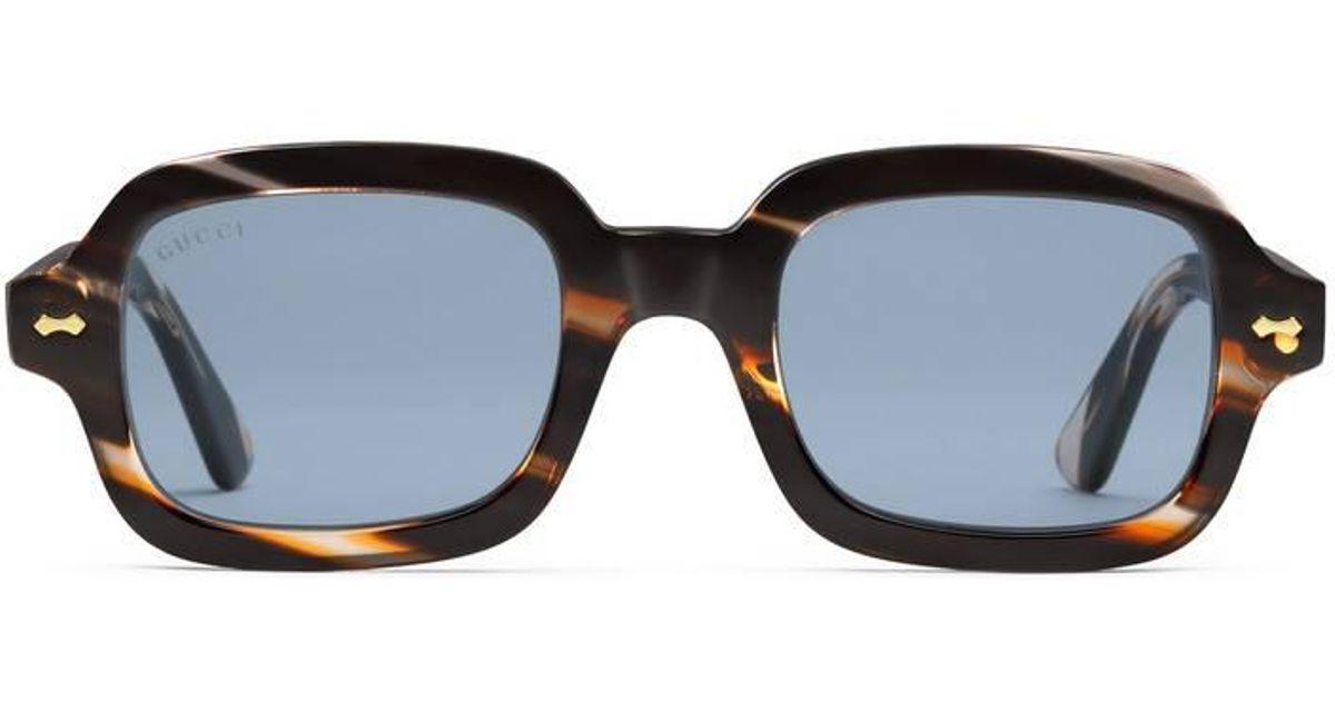 010ac086e54 Lyst - Gucci Rectangular-frame Acetate Glasses for Men