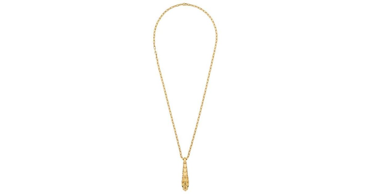 Gucci Dionysus yellow gold necklace MzlAQVkd