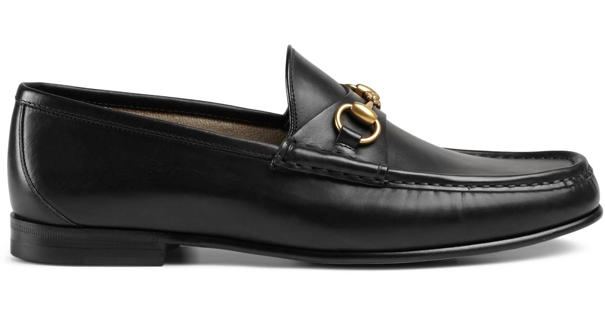 b01d9502f2b Gucci 1953 Horsebit Leather Loafers in Black for Men - Lyst
