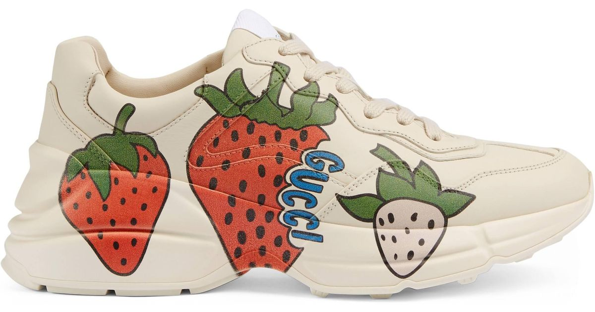 Gucci Rhyton Strawberry Sneakers in
