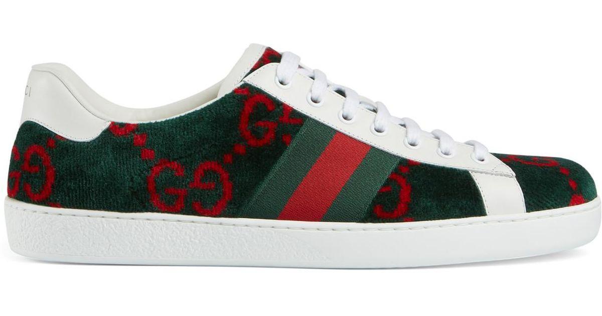 1c241ebee1 Gucci White Men's Ace GG Terry Cloth Sneaker for men