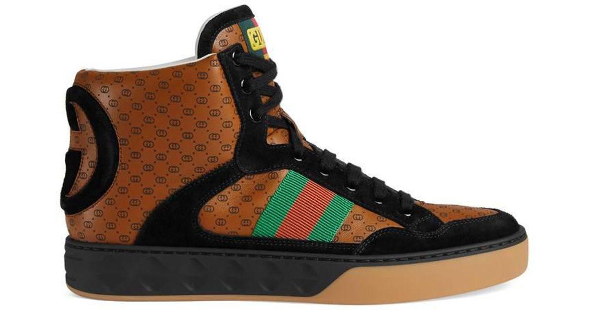 b8c60168cce Lyst - Gucci Women s -dapper Dan Sneaker in Brown