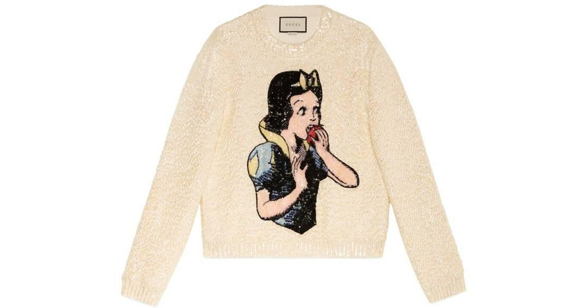 a5ac1dc67f1 Lyst - Gucci Snow White Sweater With Sequins in White for Men