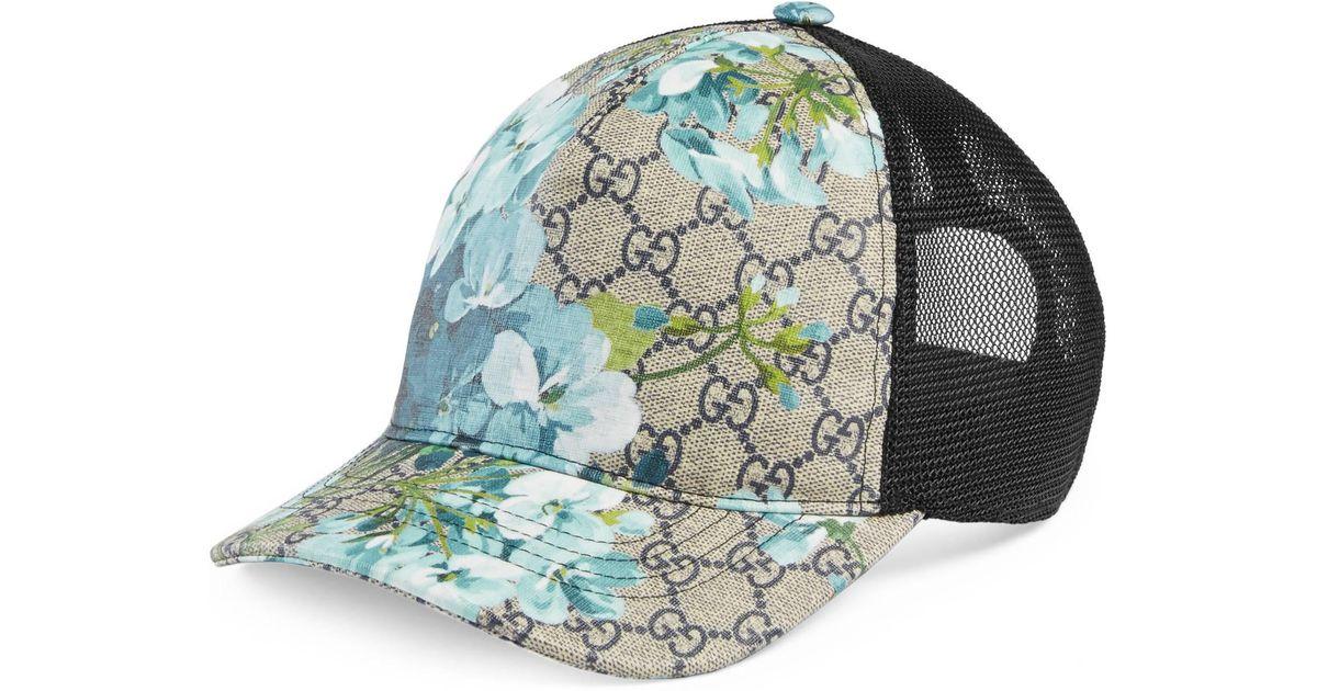 6d7fc31e Gucci Blue Gg Blooms Baseball Hat