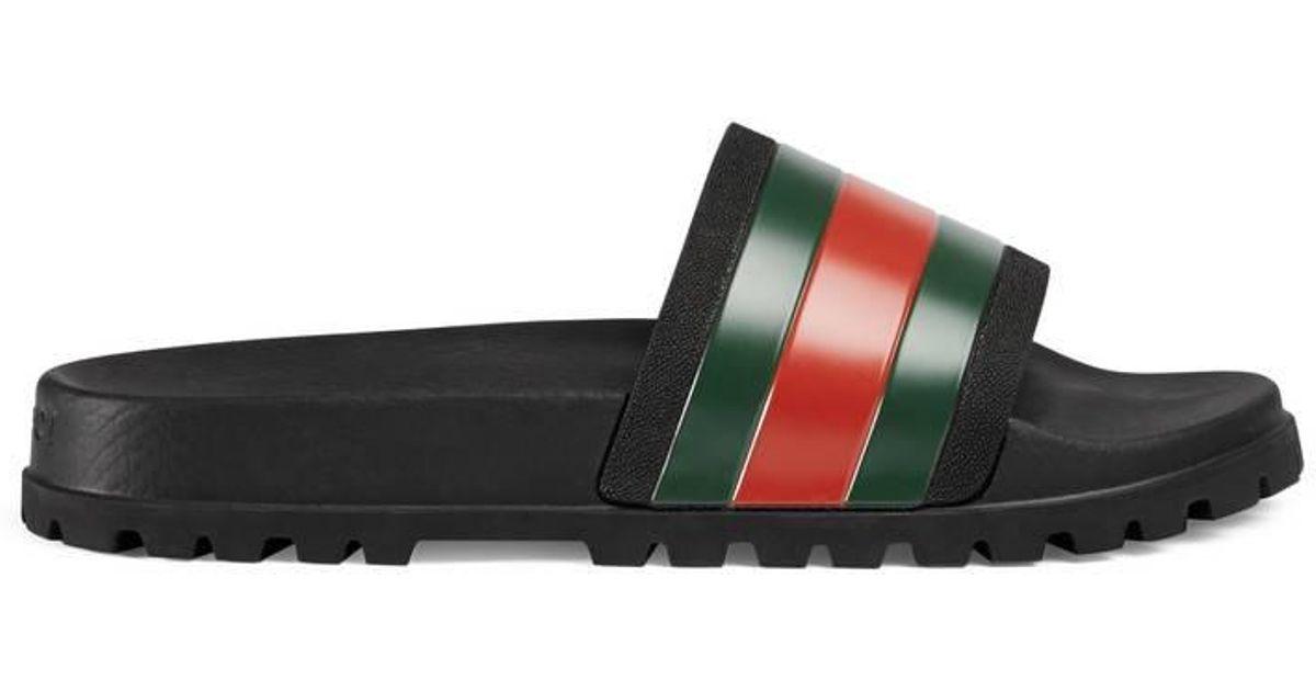 8e8941f8a171d8 Gucci Web Slide Sandal for Men - Lyst