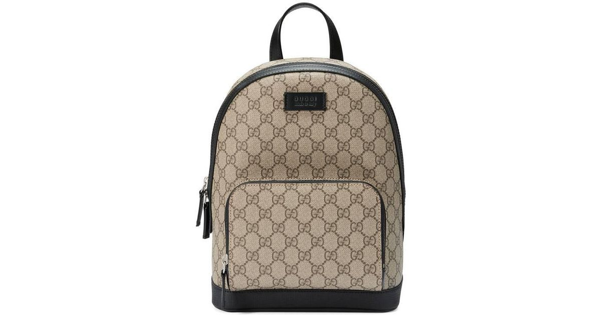 a8ec8eb59ba2 Lyst - Gucci Gg Supreme Small Backpack in Black