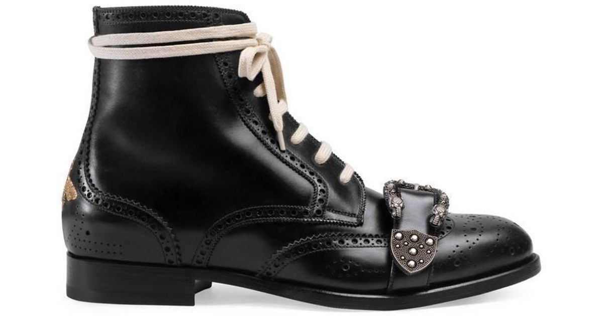 Gucci Leather Queercore Brogue Boot for