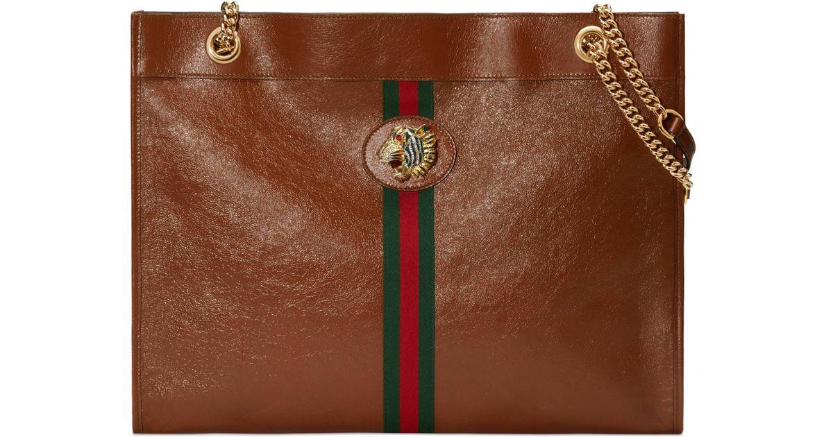 6bd2a82659 Gucci - Brown Großer Rajah Shopper - Lyst