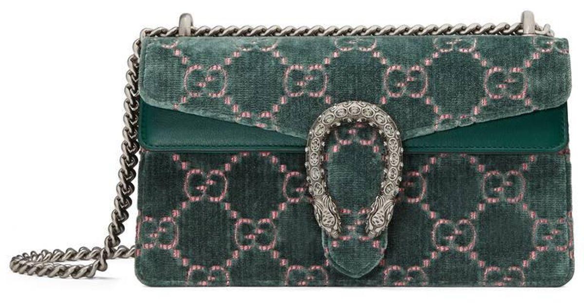50ffa4cbbd4d Gucci Dionysus Gg Velvet Shoulder Bag in Blue - Lyst