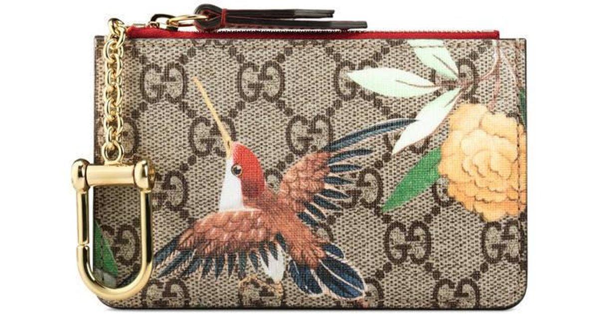 b72648f37d81 Lyst - Gucci Tian Gg Supreme Key Case in Natural