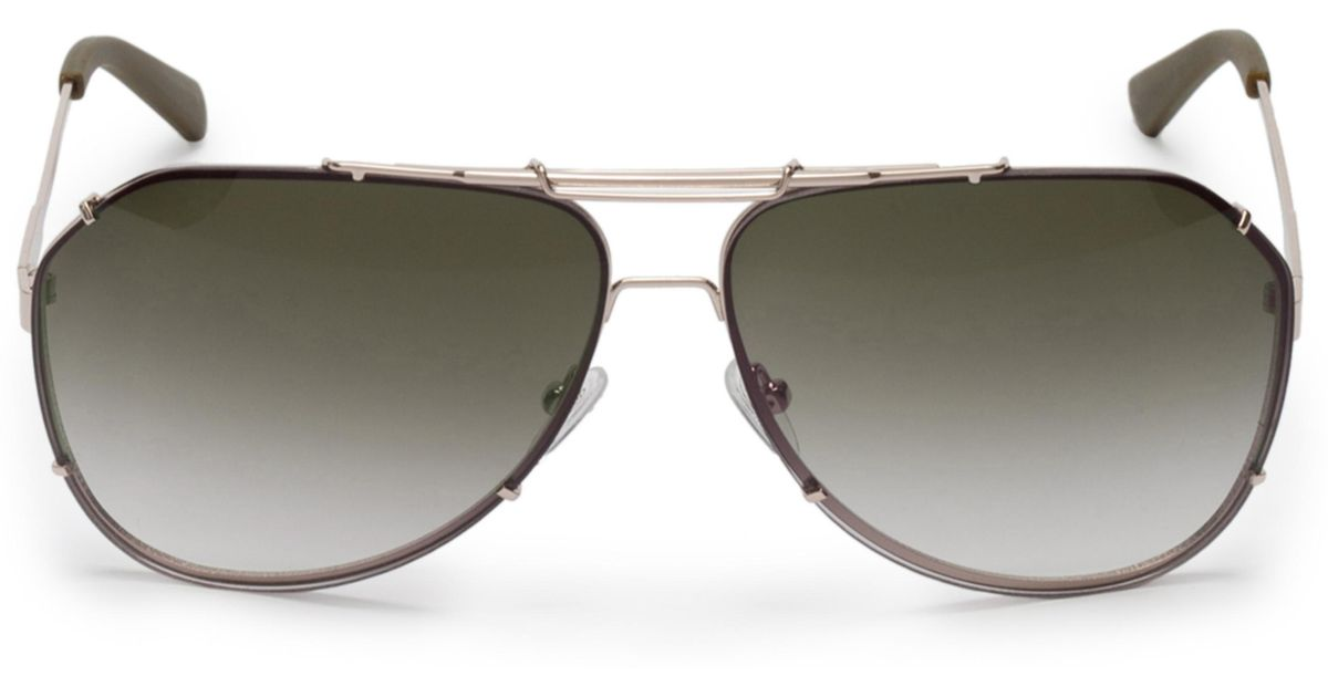 Guess Abe Metal Aviator Sunglasses in Metallic for Men - Lyst a32aa0b406