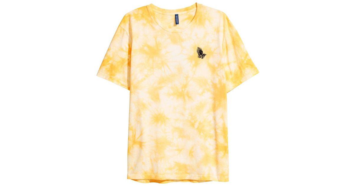 Lyst   Hu0026M Batik Patterned T Shirt In Yellow For Men