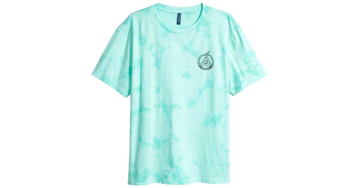 Lyst   Hu0026M Batik Patterned T Shirt In Blue For Men