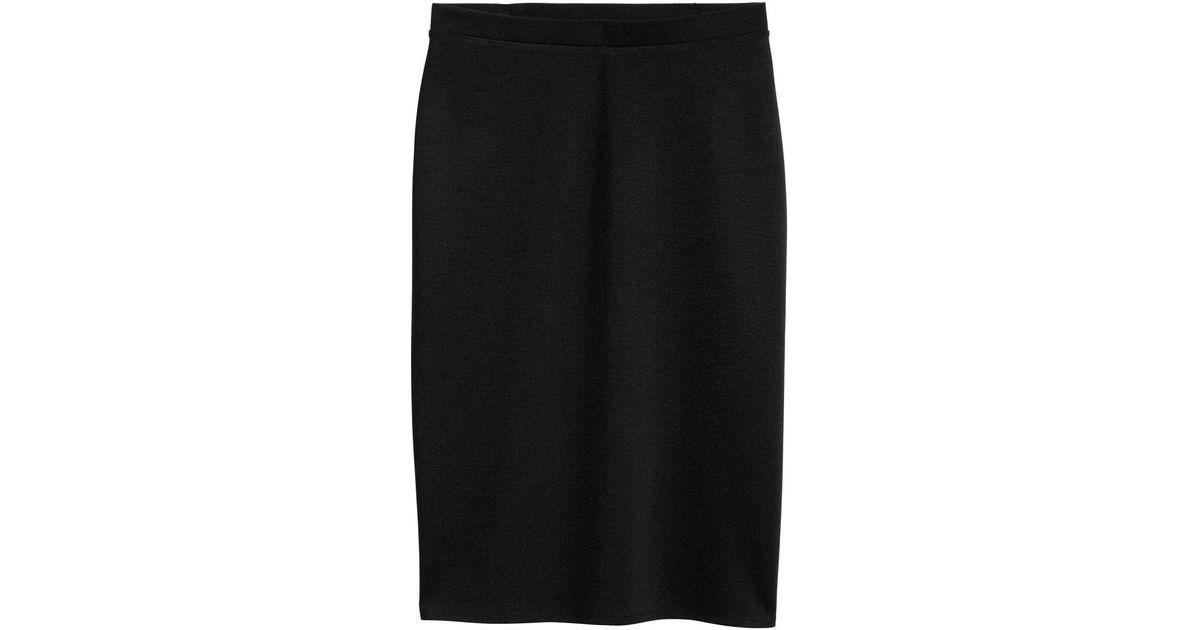 fc7dfa4a1 H&M Jersey Pencil Skirt in Black - Lyst