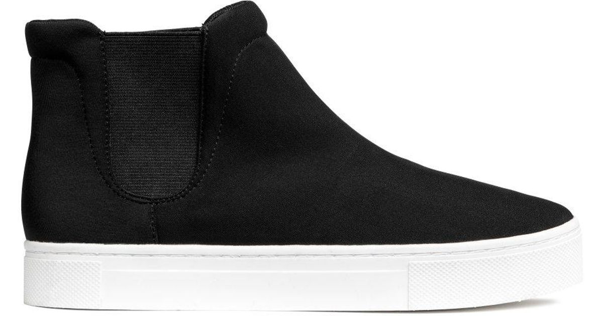H\u0026M Ankle-high Trainers in Black - Lyst