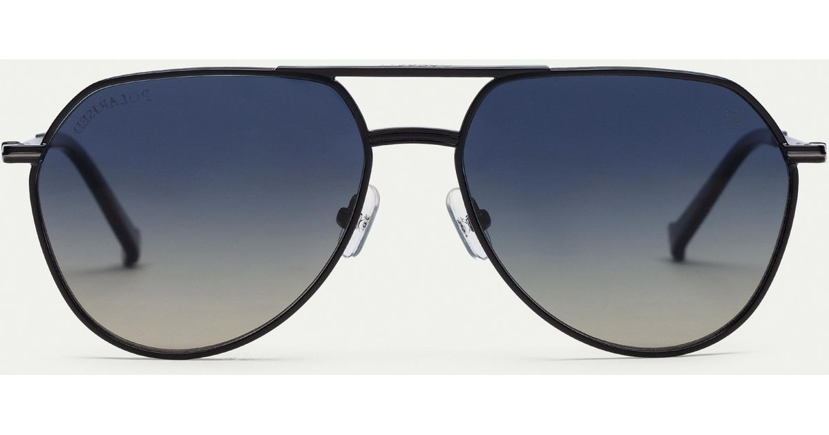 255d445456e Hackett Pilot Oversized Metal Sunglasses in Blue for Men - Lyst