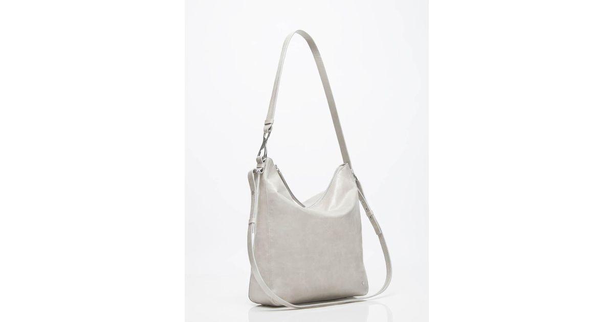 f551c17b4e Lyst - Halston Elsa Glazed Leather Convertible Crossbody in Gray