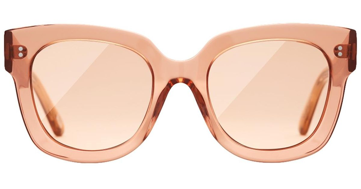 fe44523d5 Lyst - Chimi #008 Clear Sunglasses In Peach