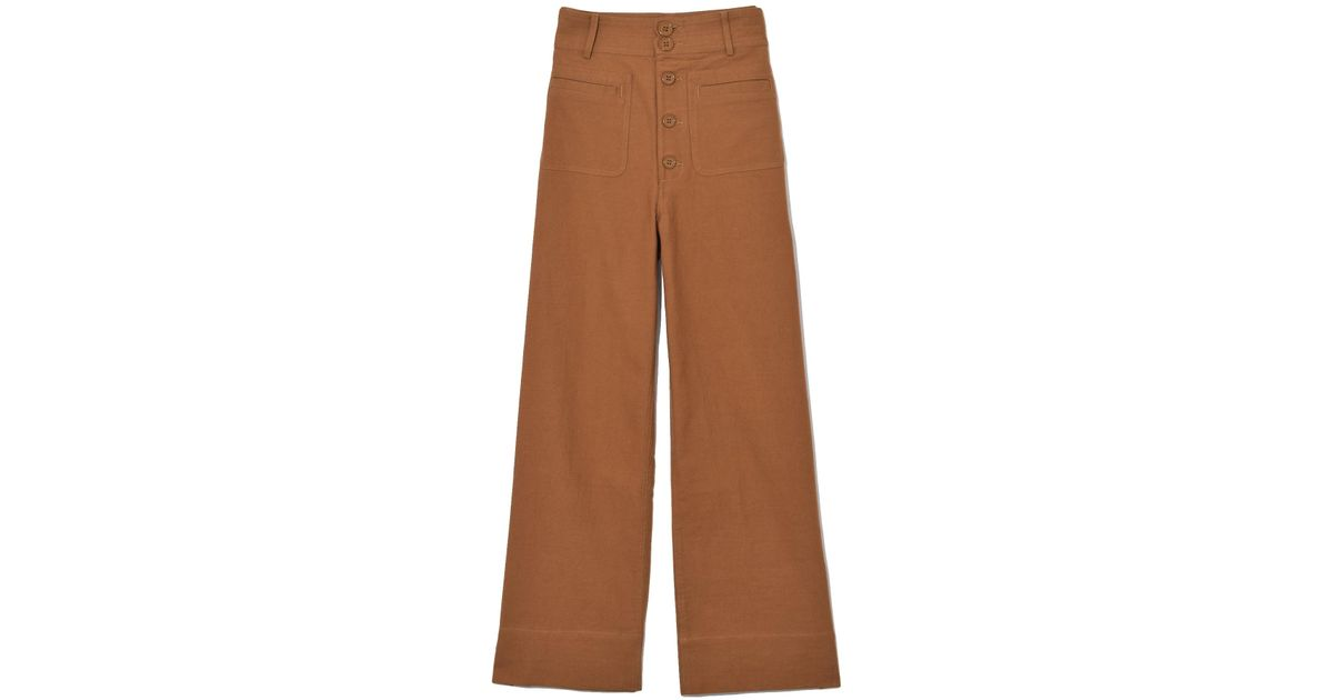 3a172647 Apiece Apart Marston Pant In Cinnamon in Brown - Lyst