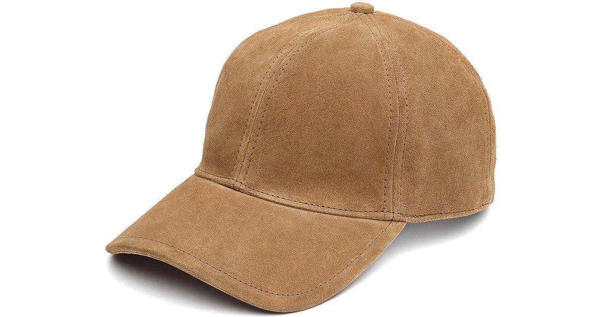 71c4162cd0095 Lyst - Rag   Bone Marilyn Baseball Cap In Camel Suede in Natural for Men
