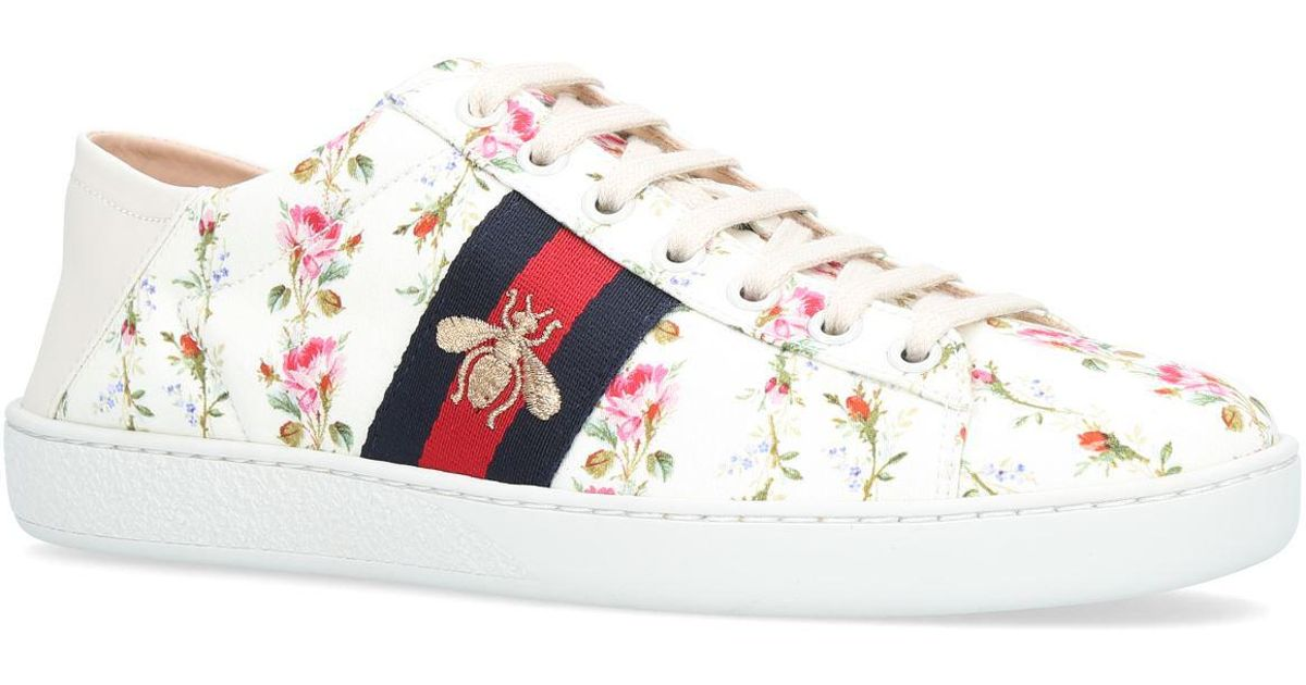 Gucci Rubber Ace Rose Print Low-top