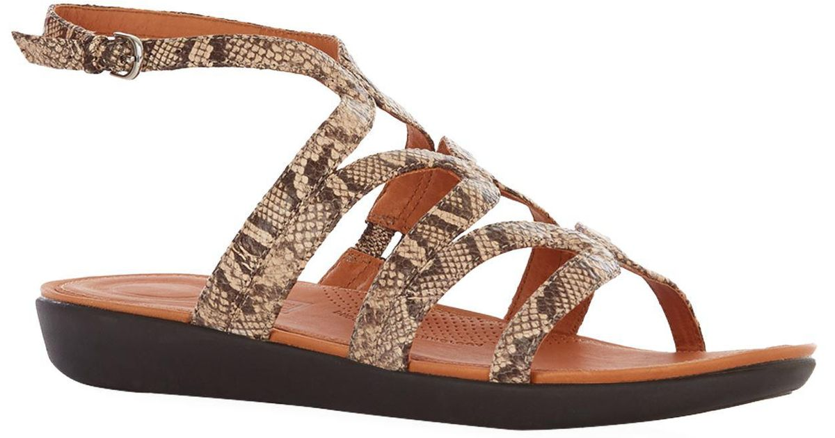 0406e22ab7d Lyst - Fitflop Strata Gladiator Sandals in Green