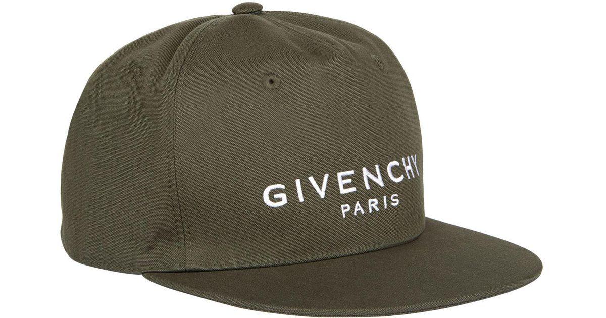 Lyst - Givenchy Paris Logo Cap in Green for Men 783a172c565d