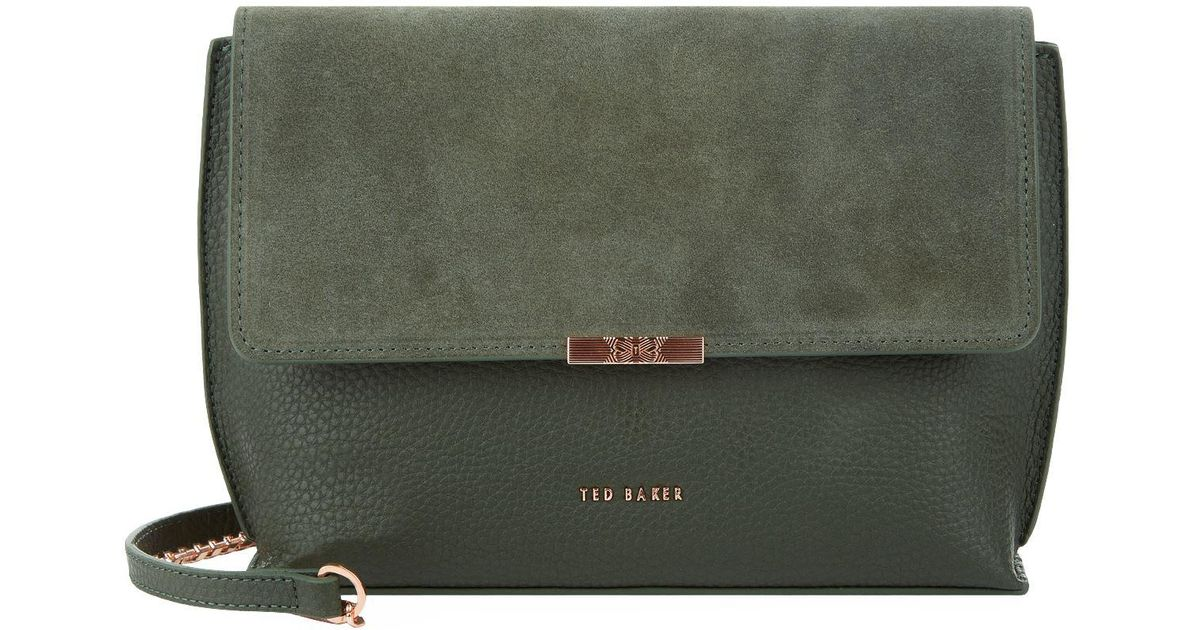6d9b3242ef270 Ted Baker Green Kamilla Leather Cross Body Bag