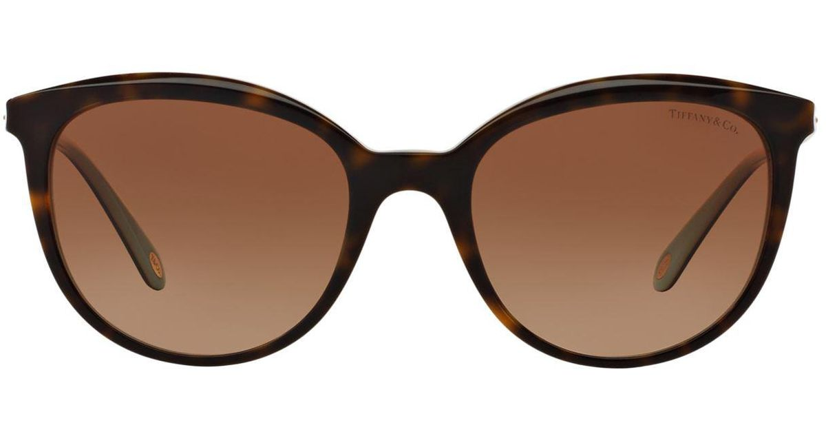 7fe0e3c97e0d Tiffany & Co. Phantos Round Sunglasses in Brown - Lyst