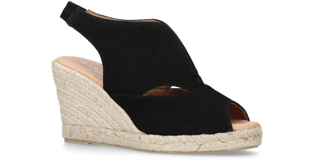 54b9a901127 Carvela Kurt Geiger Sara Wedge Sandals in Black - Lyst