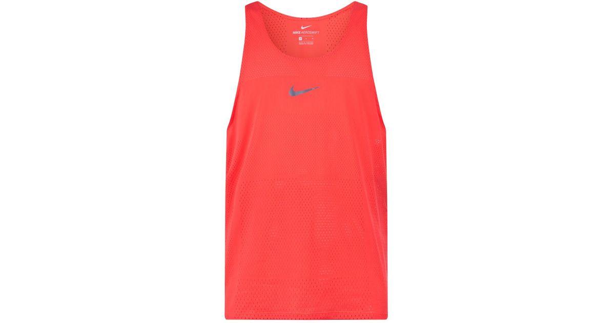 Nike Red Aeroswift Running Tank Top for men