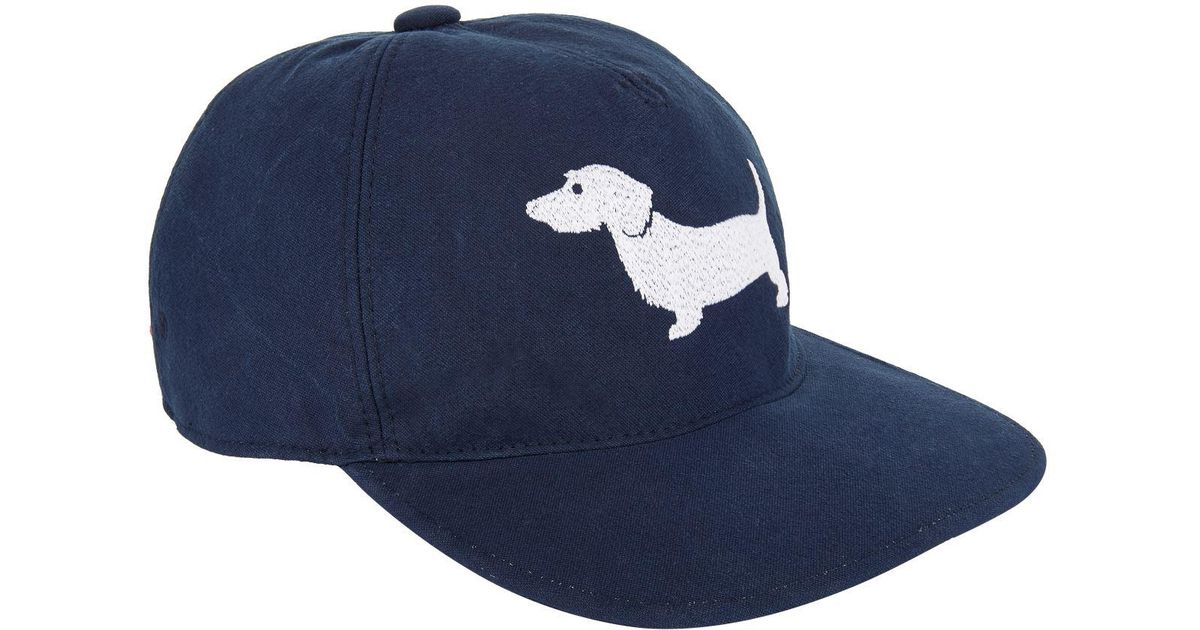417e1670b2da9 Thom Browne Hector Embroidered Baseball Cap in Blue for Men - Lyst