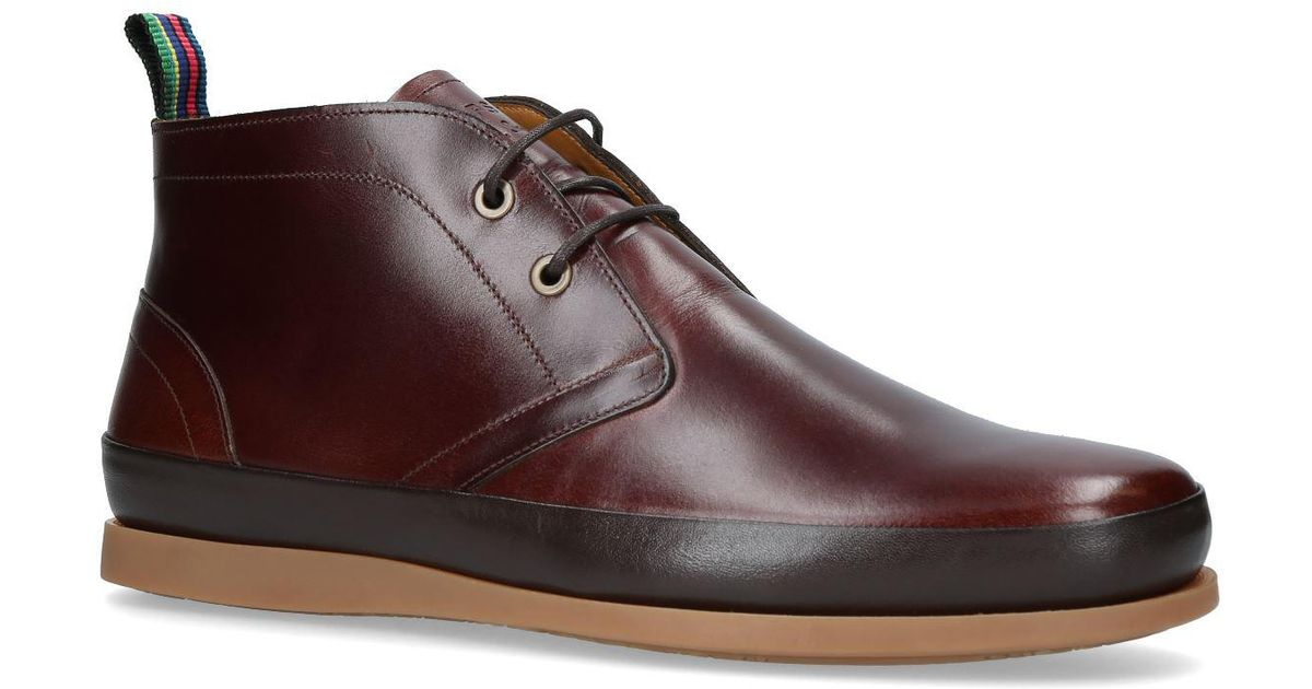 Paul Smith Leather Cleon Chukka Boots
