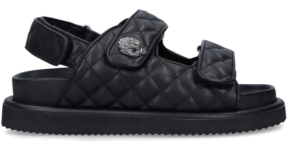 Kurt Geiger London Girls Mini Stoop Leather Combat Boots