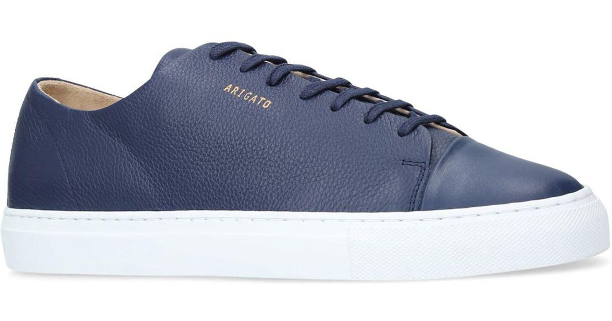 5583c5f036c Lyst - Axel Arigato Leather Cap-toe Sneakers in Blue for Men